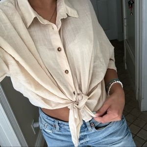 Natural light button down